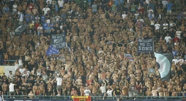 I tifosi della Curva A dello stadio San Paolo