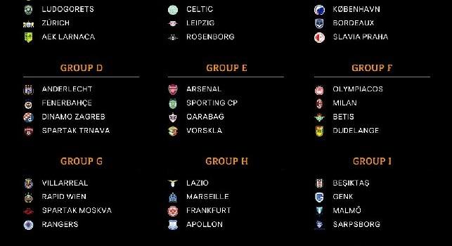 Gironi Europa League