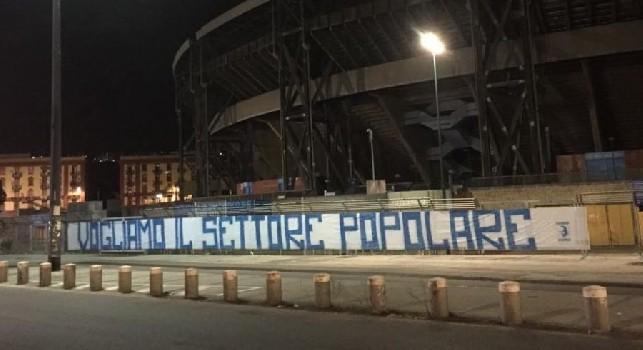 Protesta caro biglietti stadio San Paolo