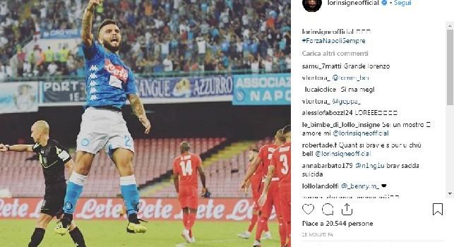Insigne esulta su Instagram: Forza Napoli Sempre! [FOTO]