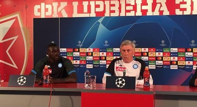 Carlo Ancelotti, allenatore Napoli, in conferenza stampa