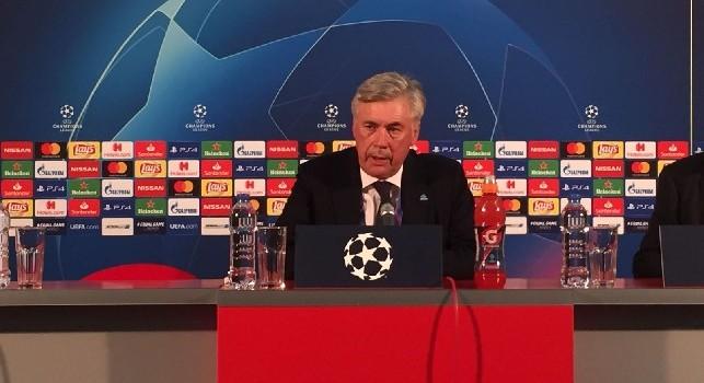 Caro Ancelotti in conferenza stampa al Marakanà (Champions League)
