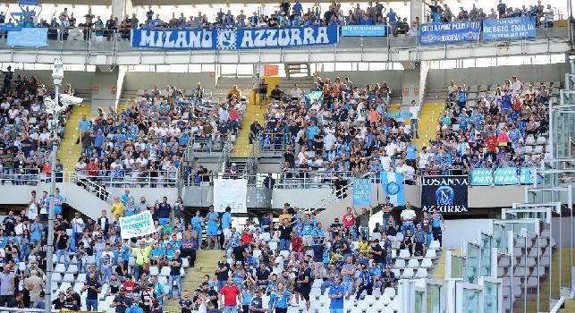 Il settore ospiti esplode dopo la vittoria contro il Torino: i supporters azzurri intonano Un giorno all'improvviso... [VIDEO]