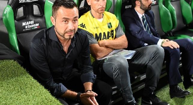 Sassuolo, De Zerbi: Contro la Samp voglio lo stesso atteggiamento visto con il Napoli. Quagliarella? Stessa fame di Ronaldo
