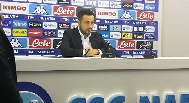 Sassuolo, De Zerbi: Infortunati Adjapong, Di Francesco e Ferrari. Vogliamo battere il Napoli e passare il turno altrimenti non prenderemmo nemmeno il treno