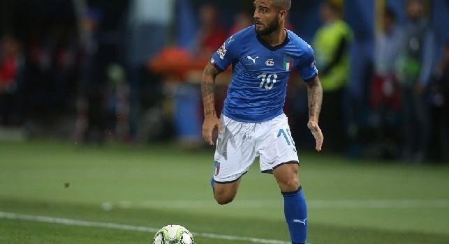 Insigne in azione con l'Italia