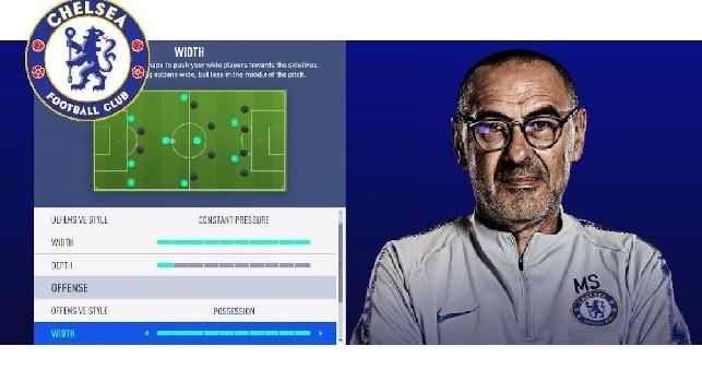 Maurizio Sarri, tutorial: come replicare il Sarrismo in Fifa 19