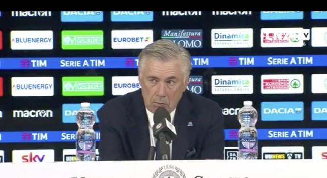 Ancelotti conferenza stampa Udinese-Napoli