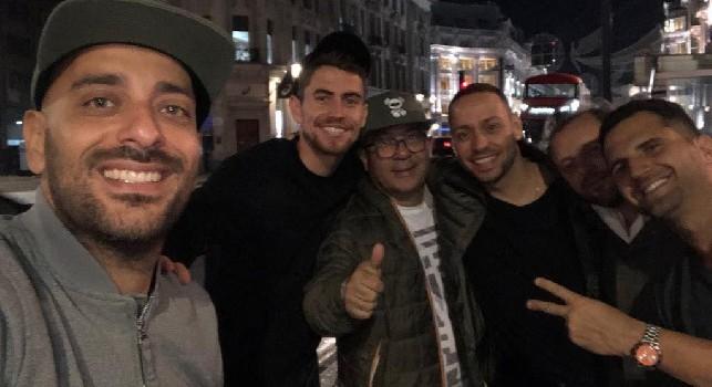 Bellini, Bobò e Sorbillo a Londra in compagnia di Jorginho! [FOTO]