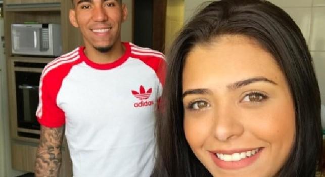Allan e sua moglie, Thais Valentim