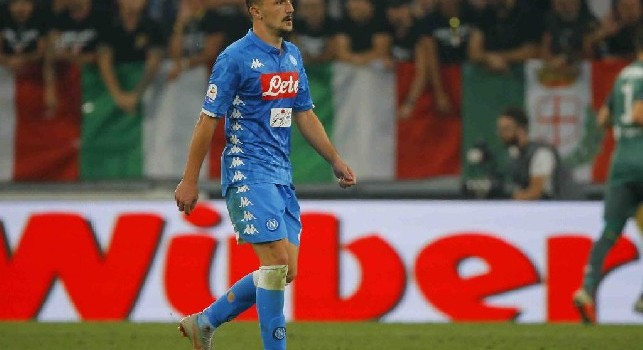 Mario Rui ferma la ripartenza di Duvan Zapata: l'arbitro Giacomelli lo ammonisce