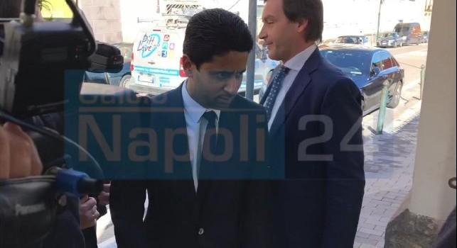 PSG, al Palazzo Petrucci arrivano anche Al Khelaifi e l'ex juventino Blanc [VIDEO & FOTO CN24]
