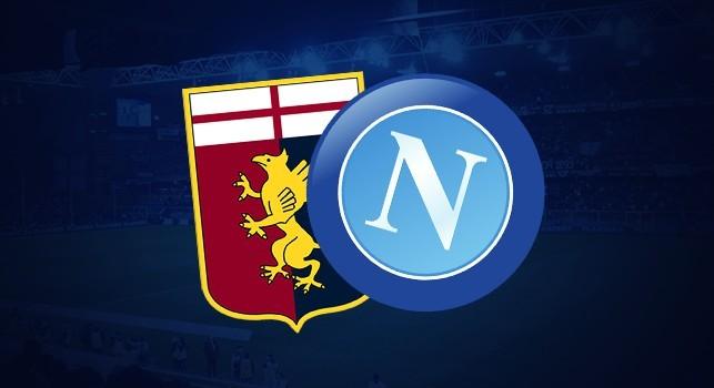Genoa-Napoli, formazioni ufficiali