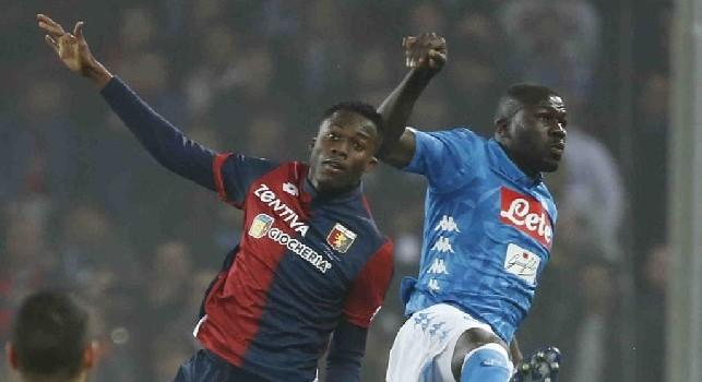 Koulibaly in azione contro il Genoa