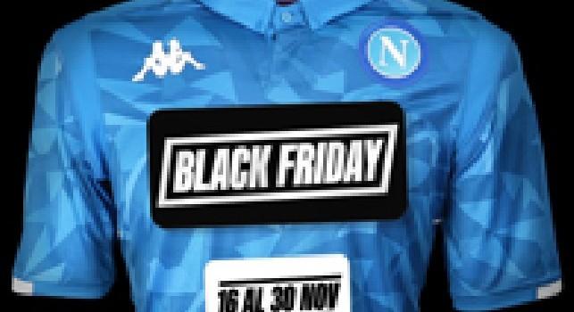 Inizia il Black Friday su E-Napolistore: tante promozioni per i tifosi azzurri!