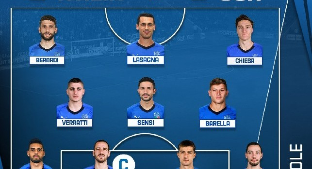 Italia-USA, formazioni ufficiali: Mancini conferma soltanto Bonucci, Chiesa e Verratti! 8 novità dal 1' [FOTO]