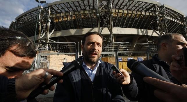 Stadio San Paolo, ass. Borriello a CN24: Anello inferiore chiuso con il Cagliari per installazione sediolini. Senza Europa League si procederà più velocemente