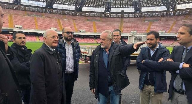 Stadio San Paolo, il Comune: Il Napoli ci deve 6 milioni. De Laurentiis contrariato, può saltare di nuovo la convenzione