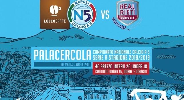 Serie A Calcio a 5, Lollo Caffè Napoli-Real Rieti: oggi alle 18:00 il match in diretta su CalcioNapoli24Tv