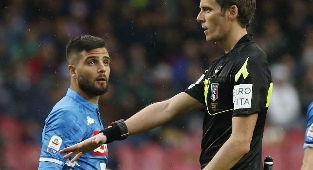 Coppa Italia - Napoli-Sassuolo, arbitrerà Chiffi di Padova. Al VAR Ghersini e Longo