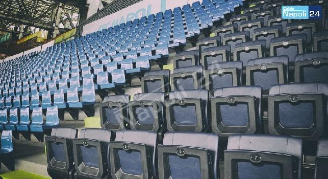 Stadio San Paolo, prototipo nuovi sediolini