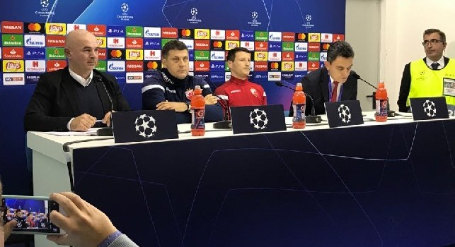 Stella Rossa, Srnic: Vincere col Liverpool ci ha messo le ali, vogliamo farlo anche domani! Napoli favorito? Sono fortissimi, ma abbiamo dimostrato di giocarcela. Insigne è il loro top player