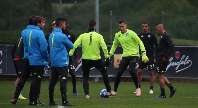 SSC Napoli: Oggi allenamento alle 14.30, poi partenza per Milano