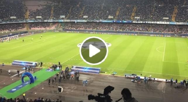 L'urlo 'The Champions' fa tremare il San Paolo: i tifosi azzurri più caldi che mai [VIDEO CN24]