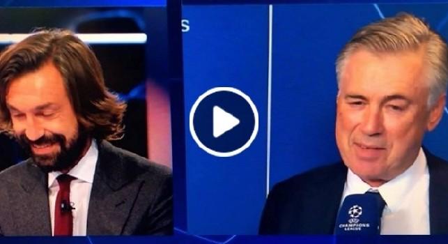 Pirlo è uno degli ultimi giocatori che mi ha emozionato, l'ex calciatore commosso a colloquio con Ancelotti [VIDEO]