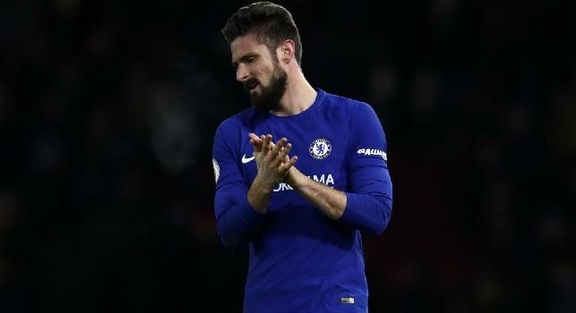 Chelsea, Giroud contro Sarri: Da gennaio con Higuain non c'è più competizione! Gioco solo in EL...