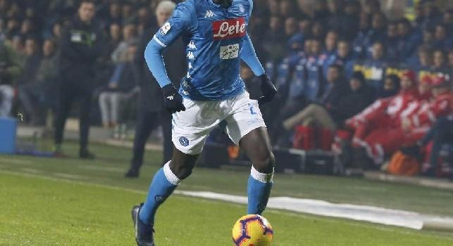 Kalidou Koulibaly in azione con la maglia del Napoli