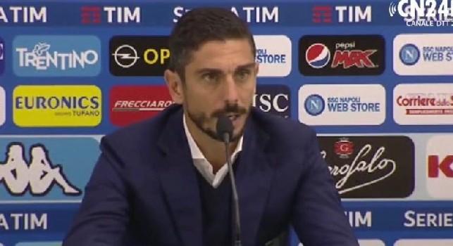 Frosinone, Longo in conferenza: Sapevamo che il Napoli non avrebbe sbagliato, ma non siamo venuti già sconfitti. Koulibaly e Luperto ci hanno sovrastati [VIDEO]
