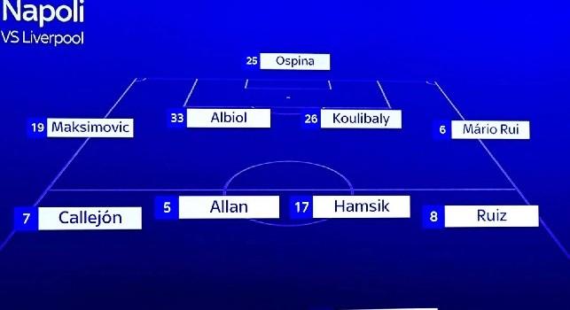 Liverpool-Napoli, la probabile formazione Sky: Ospina e Mario Rui in difesa, Mertens ed Insigne in attacco