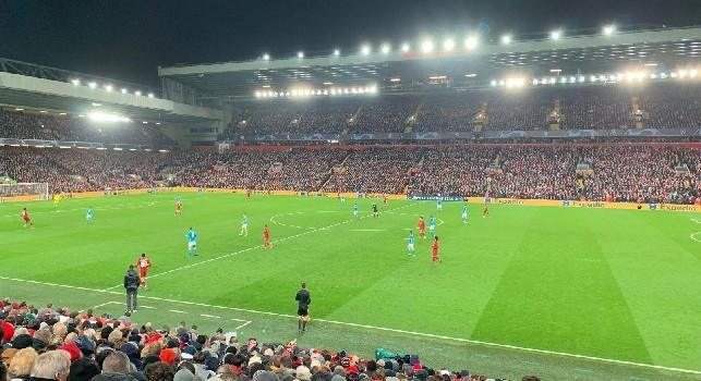 RILEGGI DIRETTA - Liverpool-Napoli 1-0 (34' Salah): gara finita, azzurri eliminati dalla Champions League!