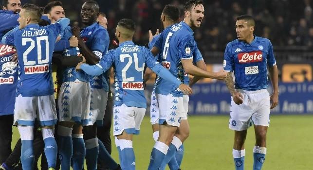 Pagelle Sportmediaset Serie A, Cagliari-Napoli 0-1: Milik da urlo, brillano Mertens e Fabian