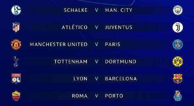Diretta Champions League sorteggio