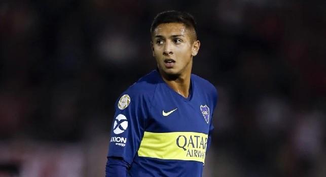 Augustin Almendra con la maglia del Boca Juniors