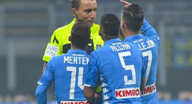 Repubblica su Mazzoleni: Ha sbagliato in Inter-Napoli, andrebbe fermato