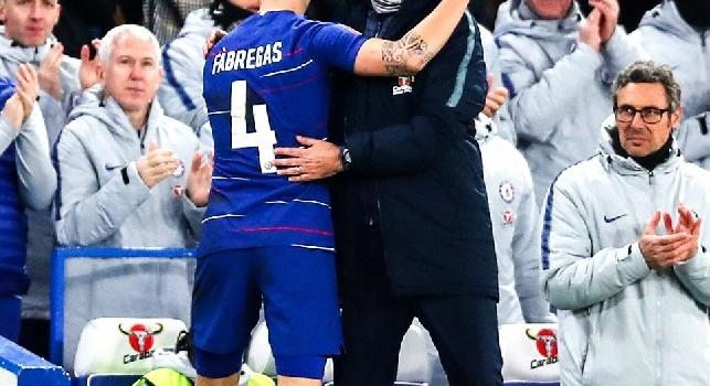 Chelsea, Sarri concede la fascia di capitano a Fabregas all'ultima partita. Con Maggio finì diversamente [FOTO e VIDEO]