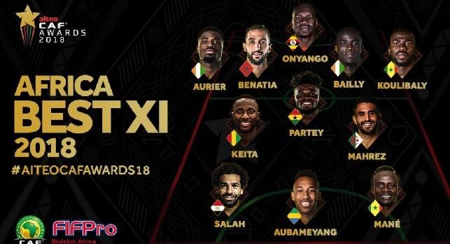 Top 11 Africa, c'è Koulibaly in difesa: Salah vince il pallone d'oro