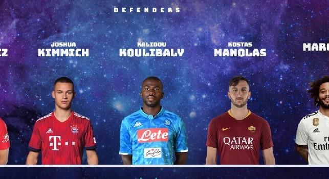 Koulibaly nel roster del Team of 2018 dell'UEFA: è l'unico giocatore del Napoli [FOTO]