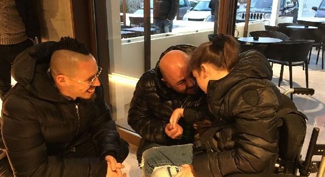 La piccola Morena realizza il sogno di incontrare Marek Hamsik [FOTO & VIDEO]