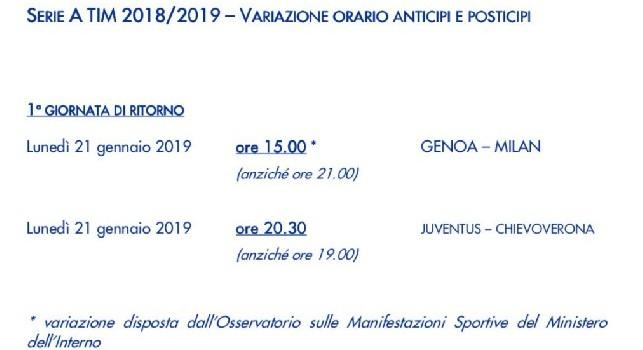 UFFICIALE - Genoa-Milan anticipata alle 15 per motivi di sicurezza [FOTO]