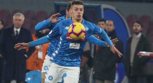 Gianluca Gaetano in azione con la maglia del Napoli