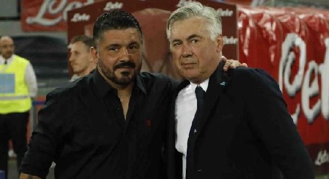 Gennaro Gattuso e Carlo Ancelotti