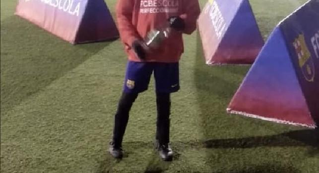 Piccolo talento napoletano: a 10 anni in prova col Barcellona