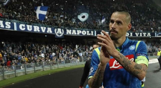 Marek Hamsik, centrocampista e capitano del Napoli