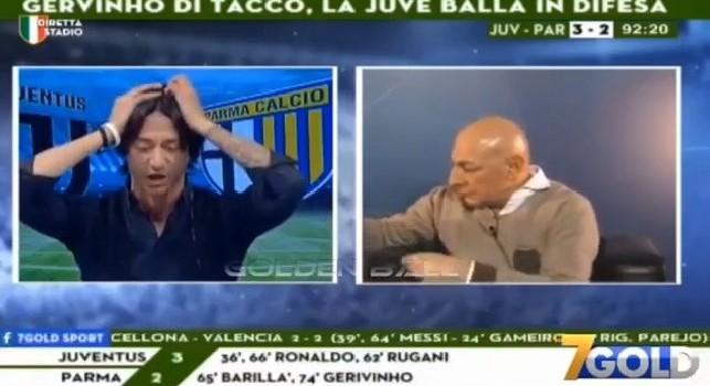 Juventus-Parma 3-3 al 92', le imperdibili reazioni di Oppini e Chirico a 7 Gold [VIDEO]