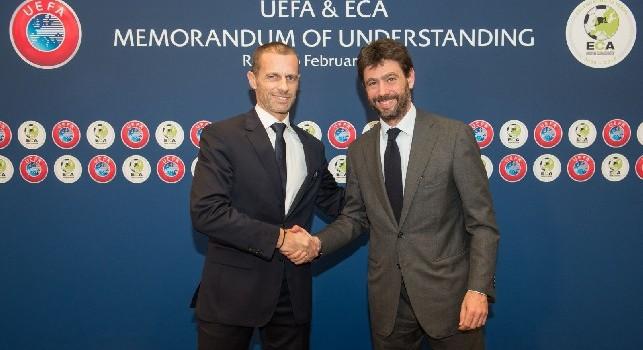 UFFICIALE - UEFA-ECA, firmato un Protocollo d'Intesa fino al 2024. Agnelli: Messe le basi per affrontare le sfide del futuro [VIDEO]