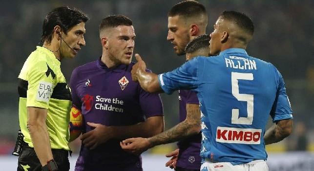 Fiorentina-Napoli, le pagelle: Mertens inconcepibile, Allan sradicatore! Fabián dà il suo, Meret pronto quando serve